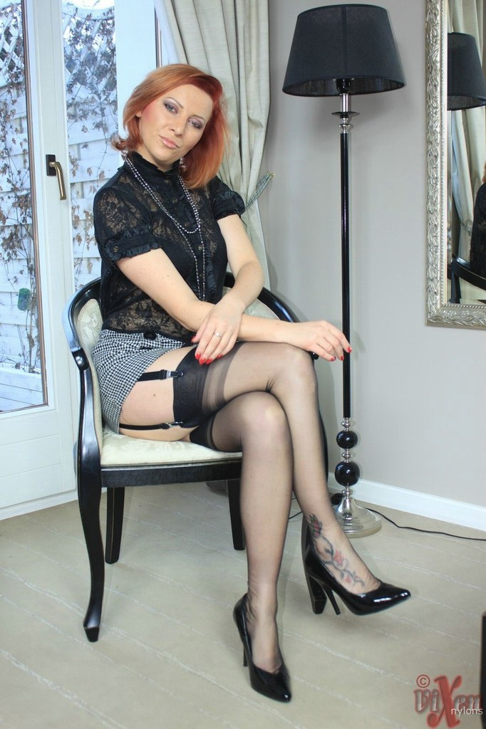 Stockings heels milf fetish and high