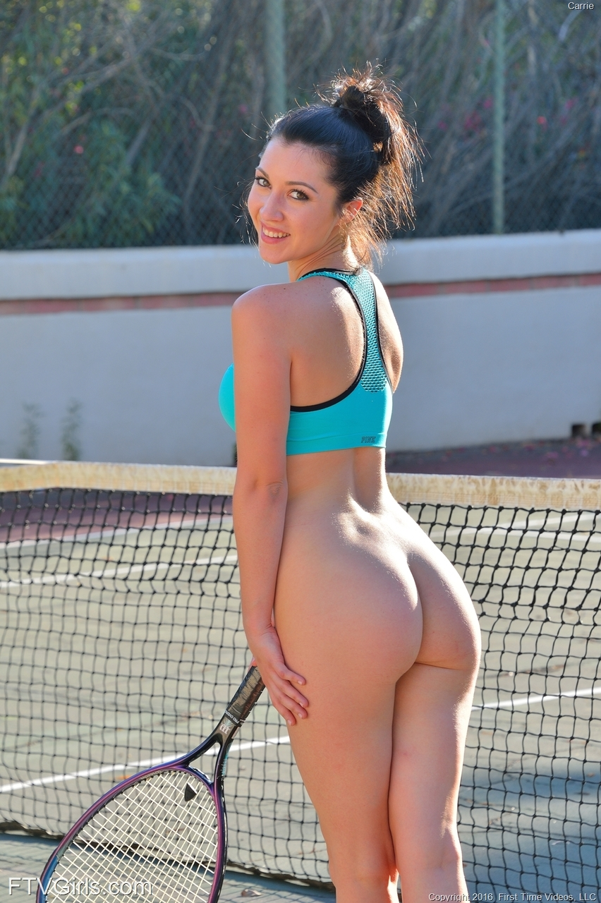 naked tennis female player