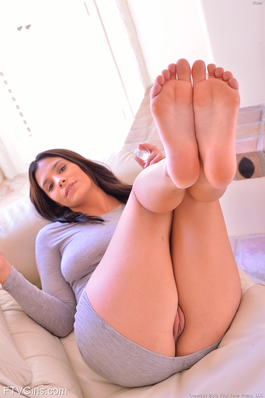 Something brunette pussy feet seems