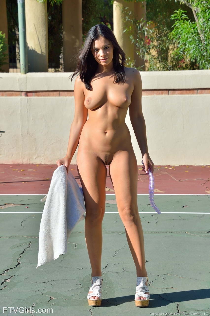half naked girl tennis