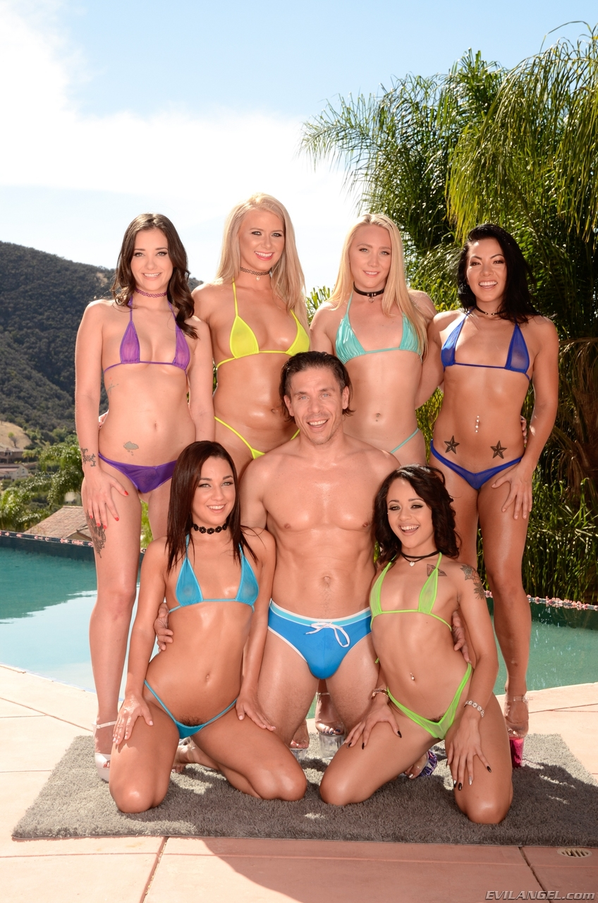 With group of hot chicks