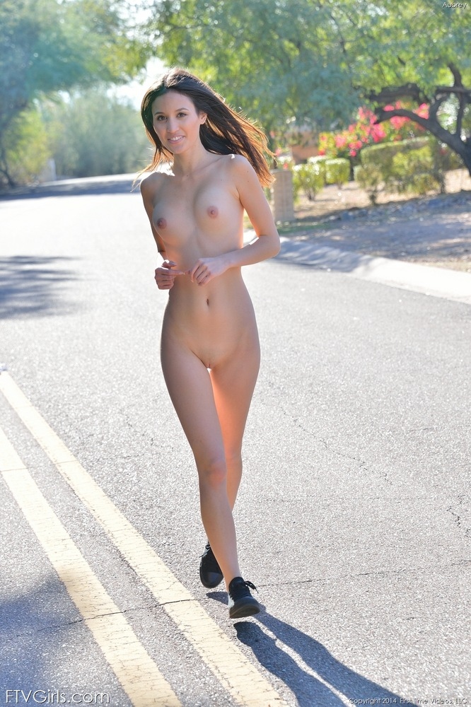 Running naked girls