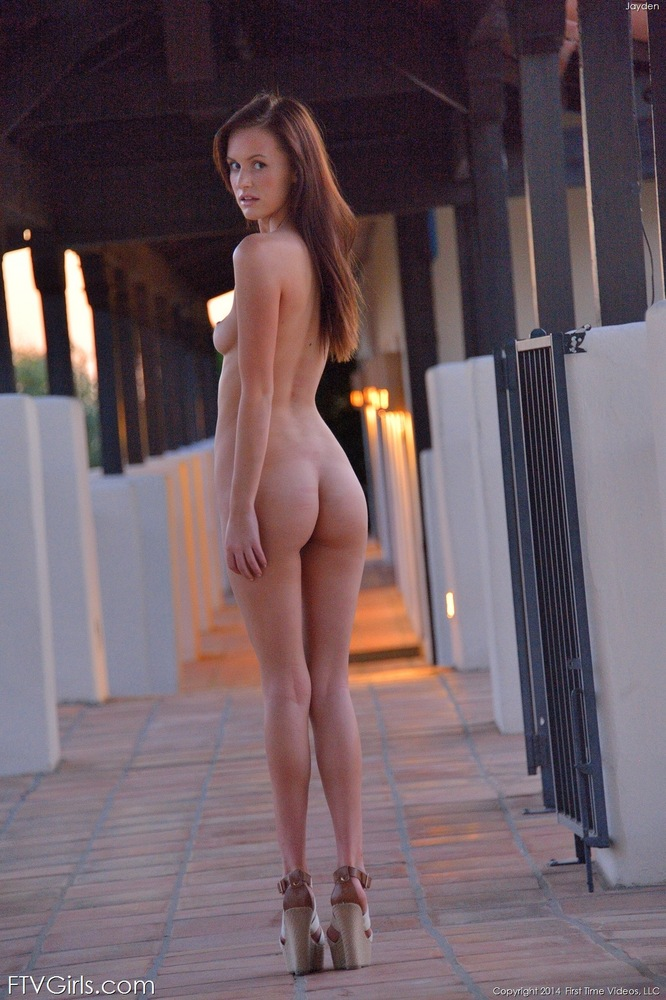 women in heels outside Nude