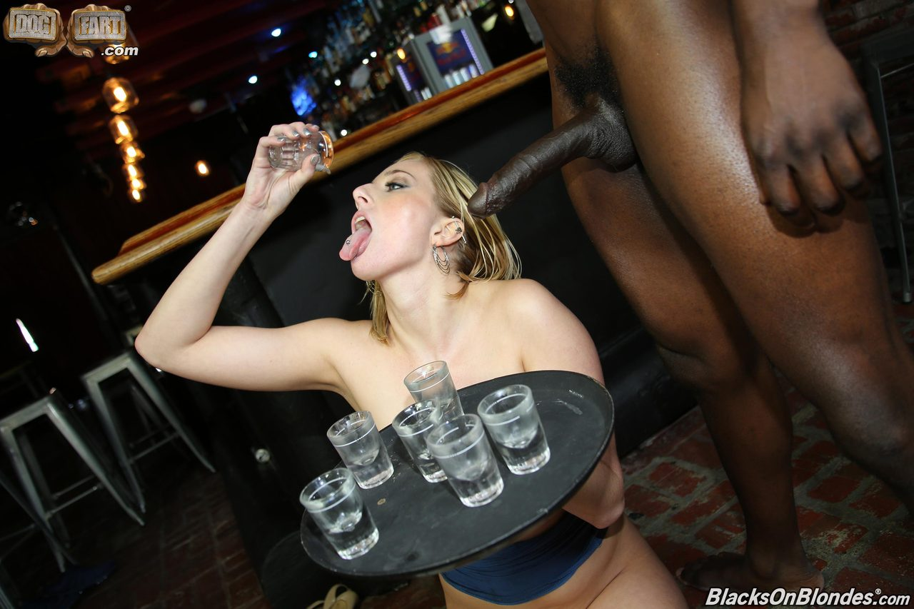 blonde slut drink