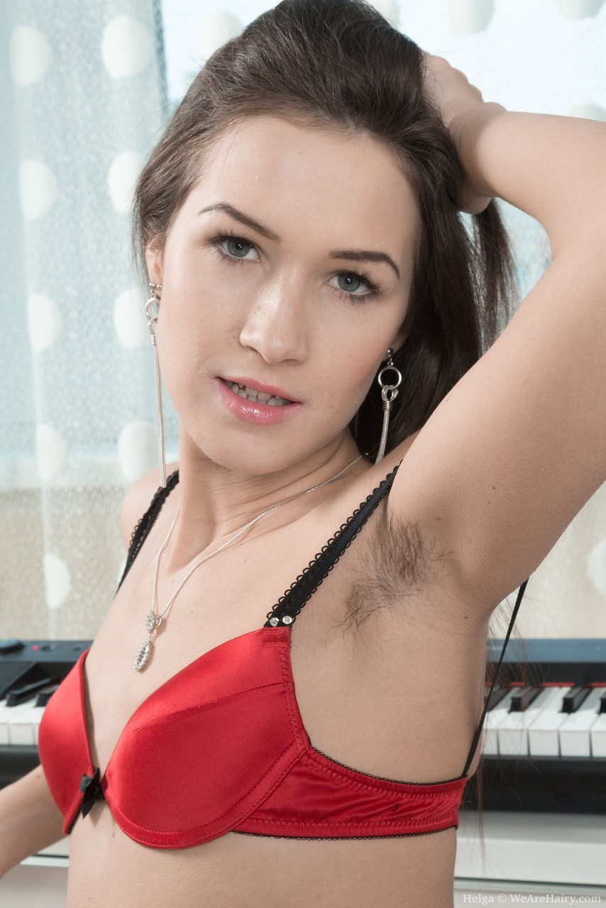 japanese hairy armpit mature uncensored ... Female keyboard player Helga delights in displaying hairy armpits and  pussy ...