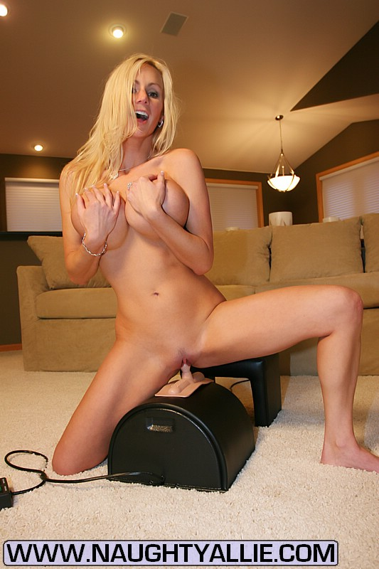 Blonde Riding Dildo Squirt