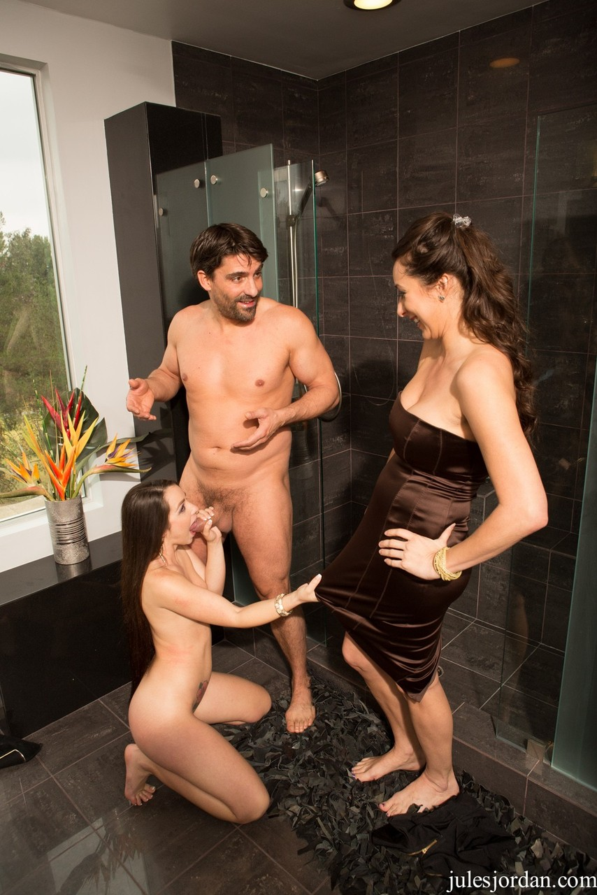 bisexual threesome lingerie image