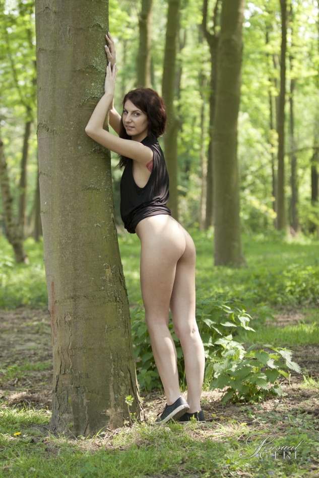 Twiggy dark-haired honey goblets a tiny booby as she strips in nature porn photo #325102974 | Class Nudes, Lilu, Ass, Babe, Brunette, Clothed, Outdoor, Panties, Shorts, Skinny, Tiny Tits, mobile porn