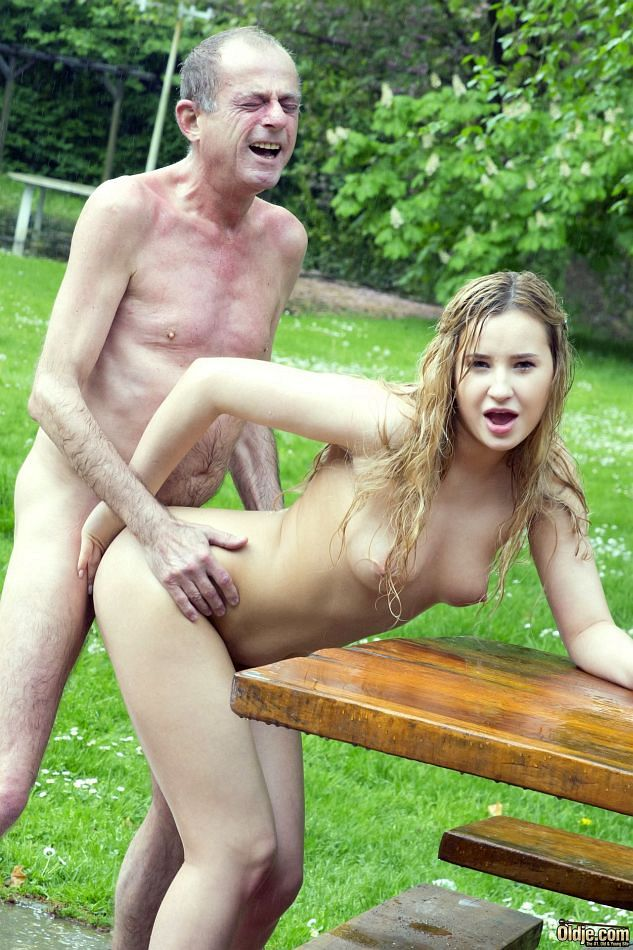 ... Young blonde girl licks her sugar daddy's asshole while milking his ...
