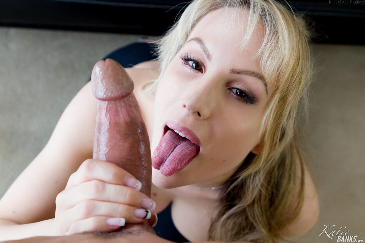 Super busty hot blonde Katie Banks rides cowgirl & takes a ...