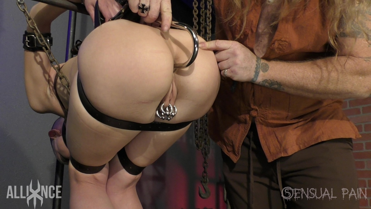 Anal Hook white female abigail dupree is affixed in place with an anal