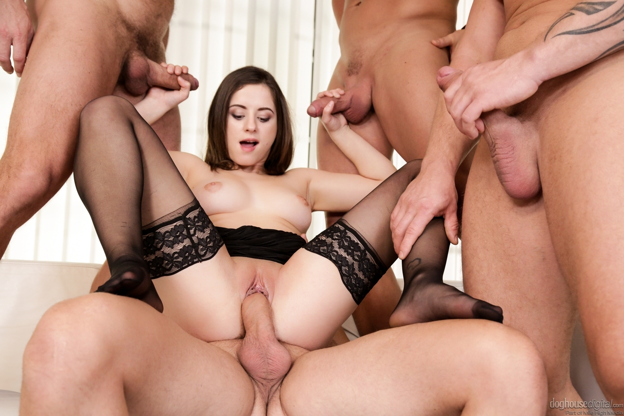Office slut gangbang