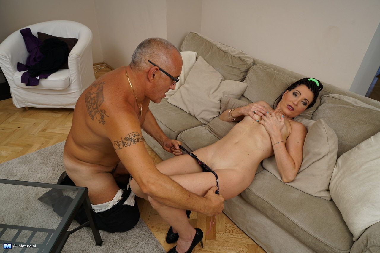 Grandpa loves his kind caretaker who lets him fuck her horny bare ass