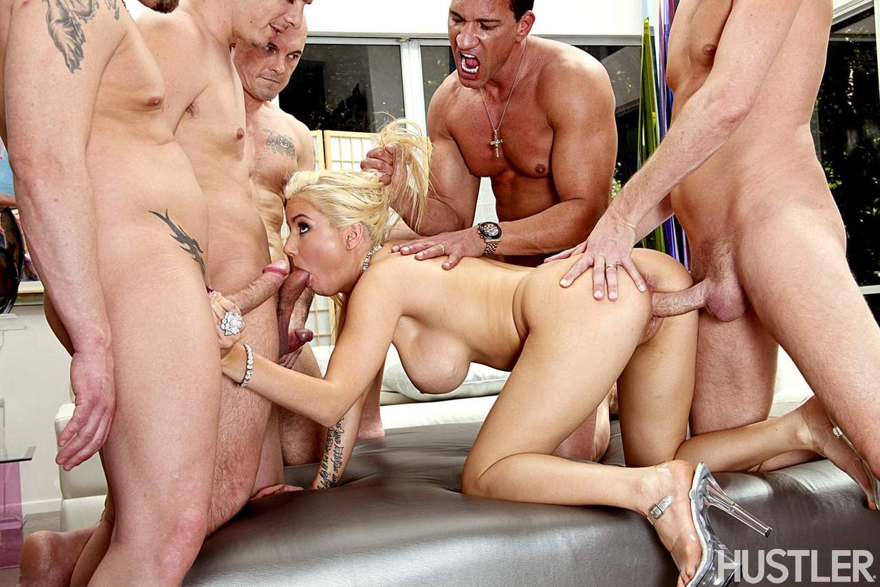 Shall blonde gang banged and the