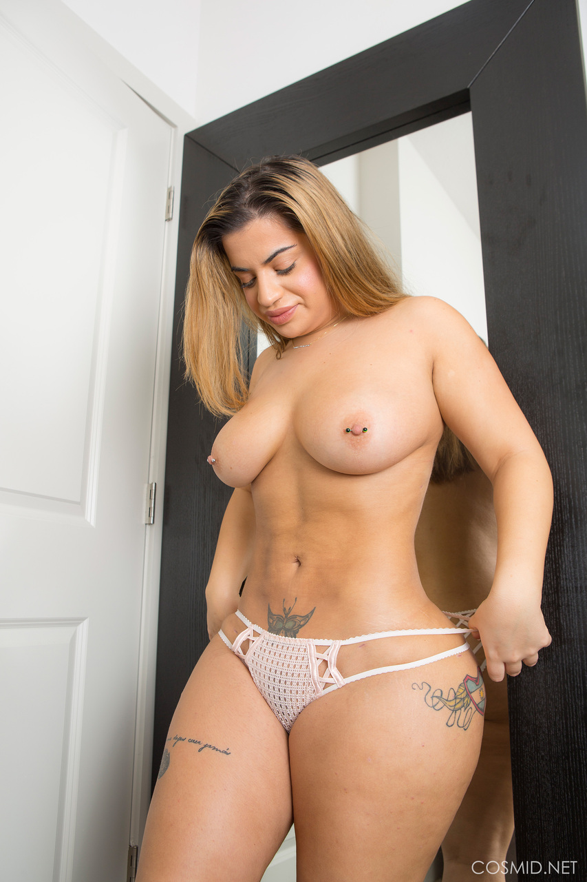 big titted sexy fatty lisa trying on sheer lingerie & showing her