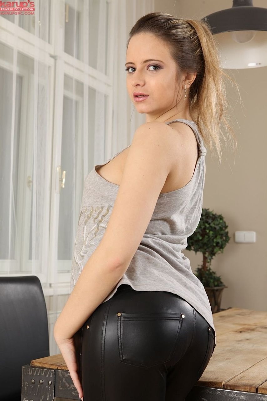 Leather pants pussy