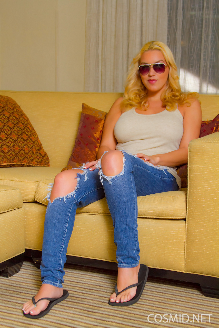 Blonde with big tits glasses amateur something is