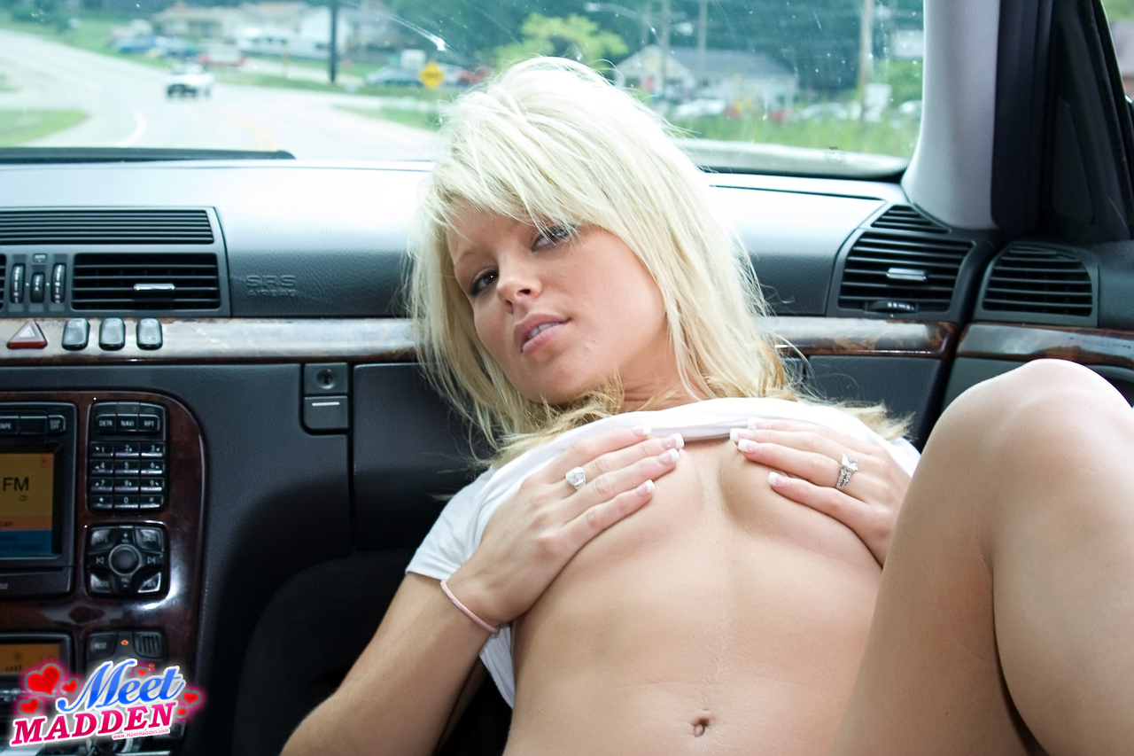 Bleach blonde amatuer Madden flips the birdie while pestering in g-string in her auto porn photo #318502071 | Meet Madden, Meet Madden, Amateur, Ass, Babe, Blonde, Legs, MILF, Panties, Spreading, mobile porn