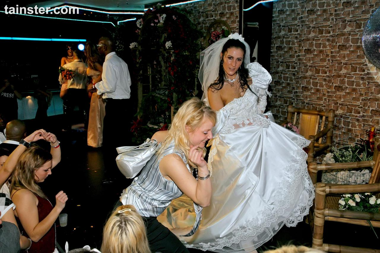New Bride Celebrates By Sucking Cock At The Wedding Reception