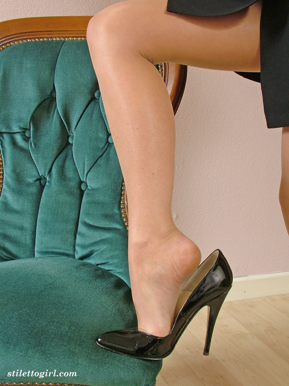 classy shoe fetish woman can t decide which heels to put