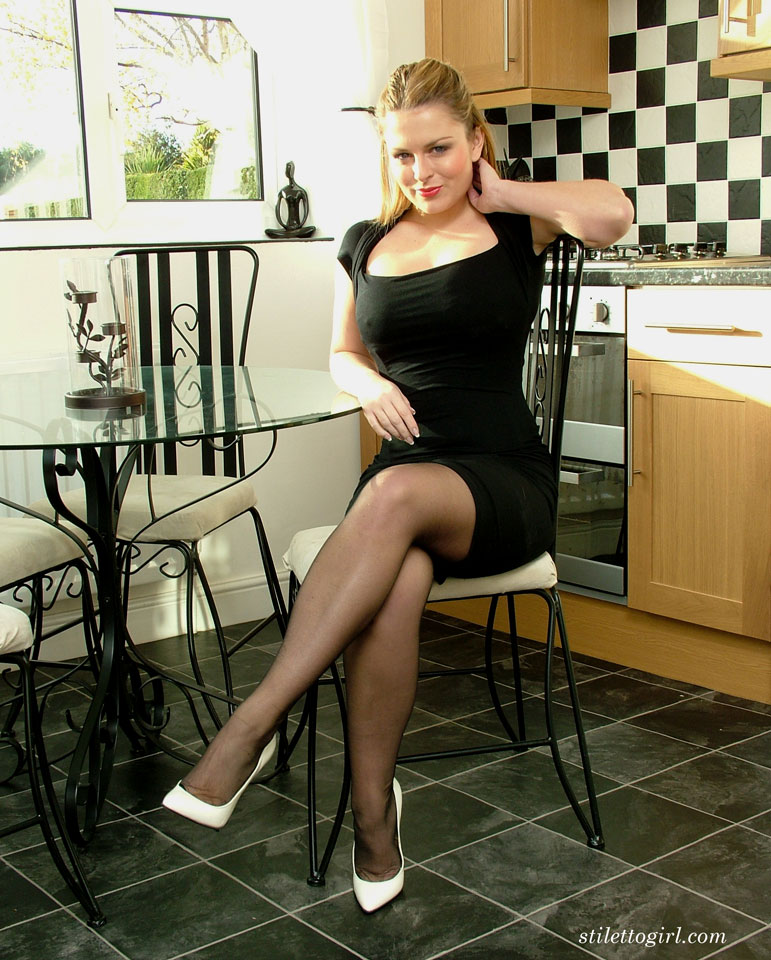 Hot women in stockings and heels