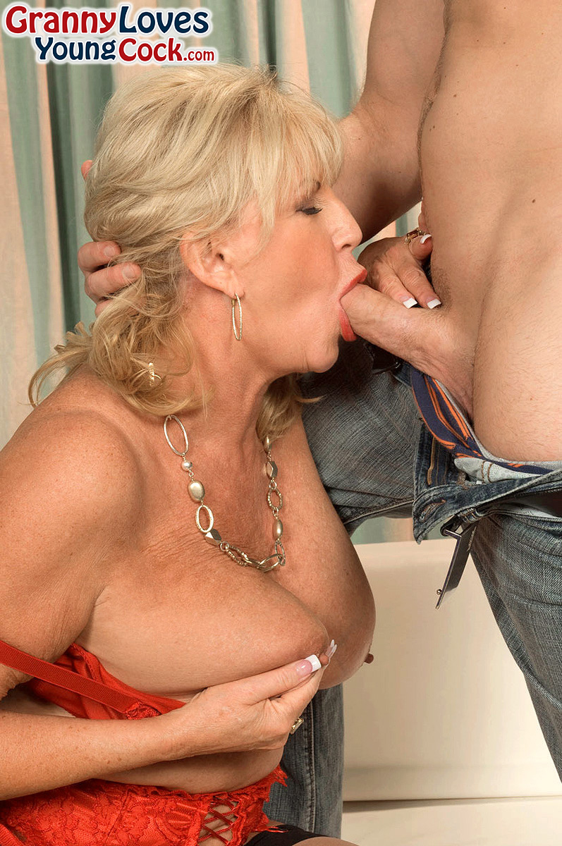 horny granny anneke nordstrum gets her big tits sucked my a younger