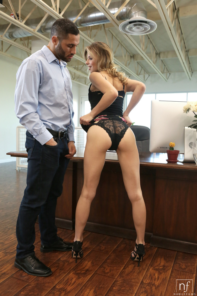 Secretary Jillian Janson sets on to seduce her hot boss for steamy office sex