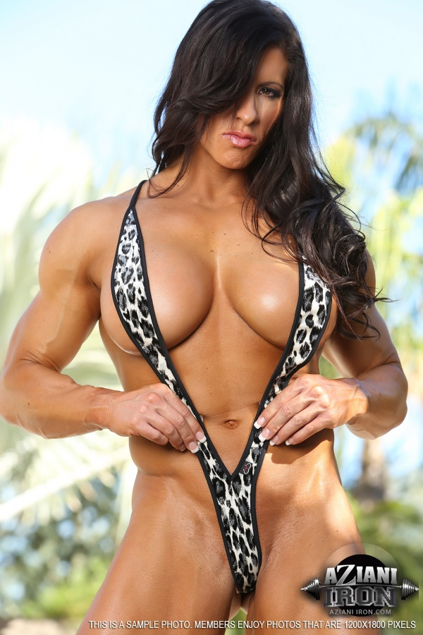 Reply))) something angela salvagno sling bikini muscle right!