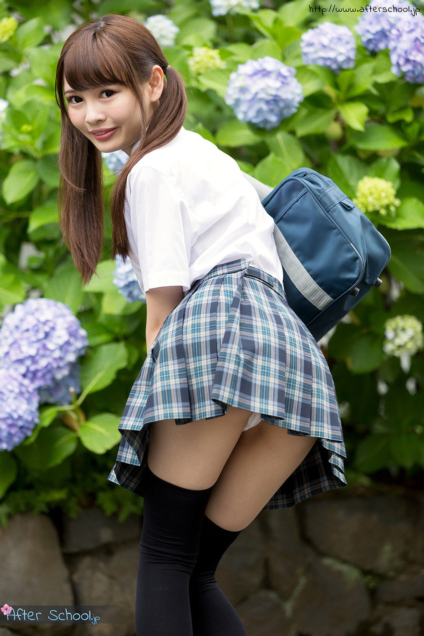 Here Asian schoolgirl upskirt no panties
