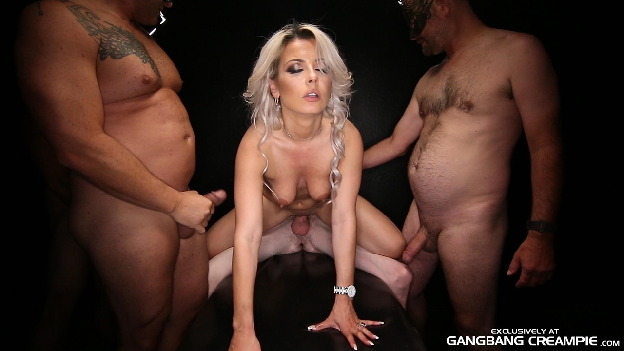 Blonde First Bbc Gangbang