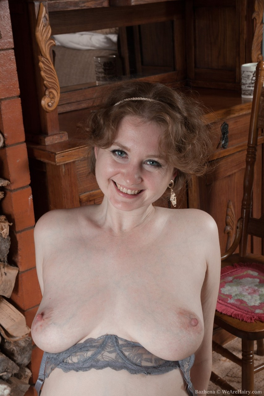 cute mature bazhena undressing to show off her saggy tits and bare