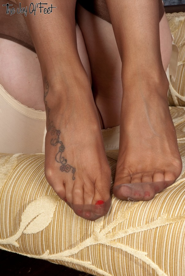 Where pantyhose feet closed up gallery something is