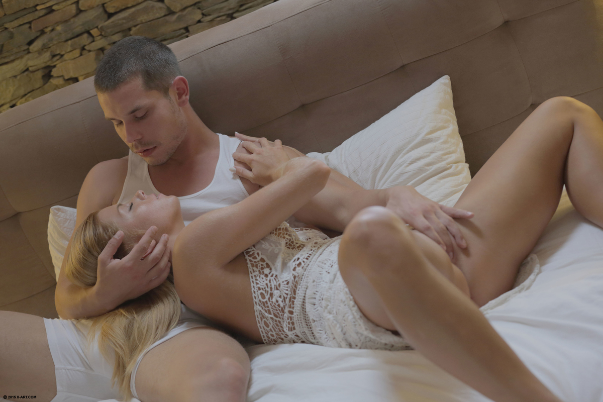 State Fuckings and fingering by young couple on bed