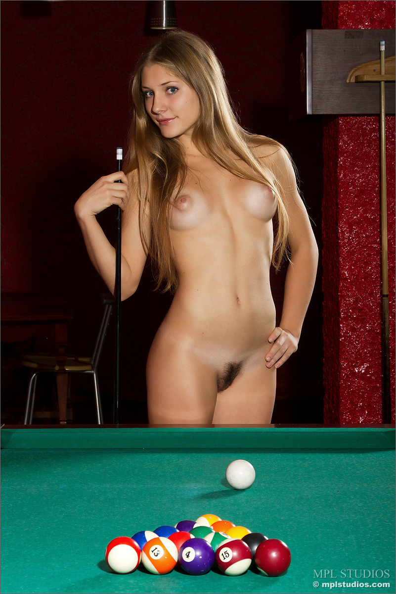 Nude girls on pool table apologise, but