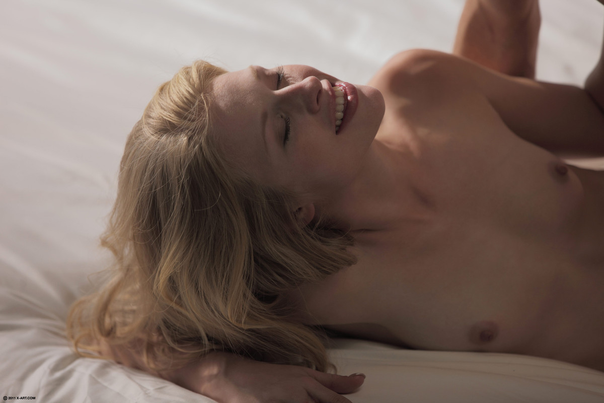 Petite blonde Avril making out with her horny boyfriend