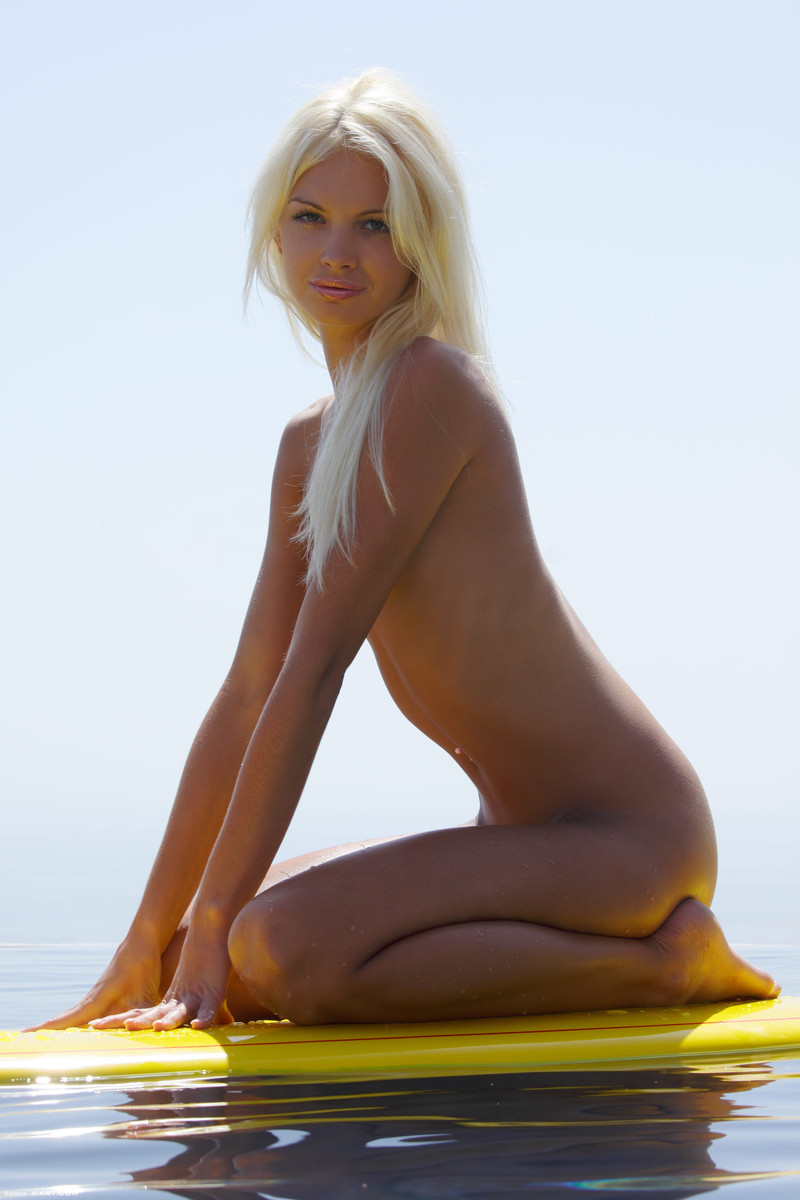 Girls blonde naked surfer