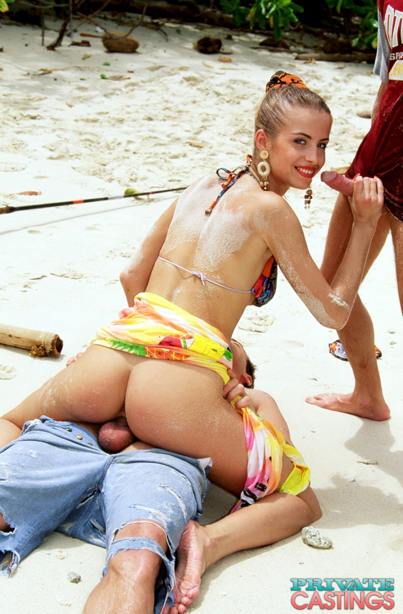 Gangbang at the beach