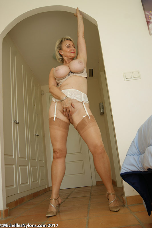 nylons slut Michelles mature