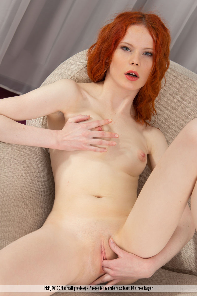 Pale red pussy