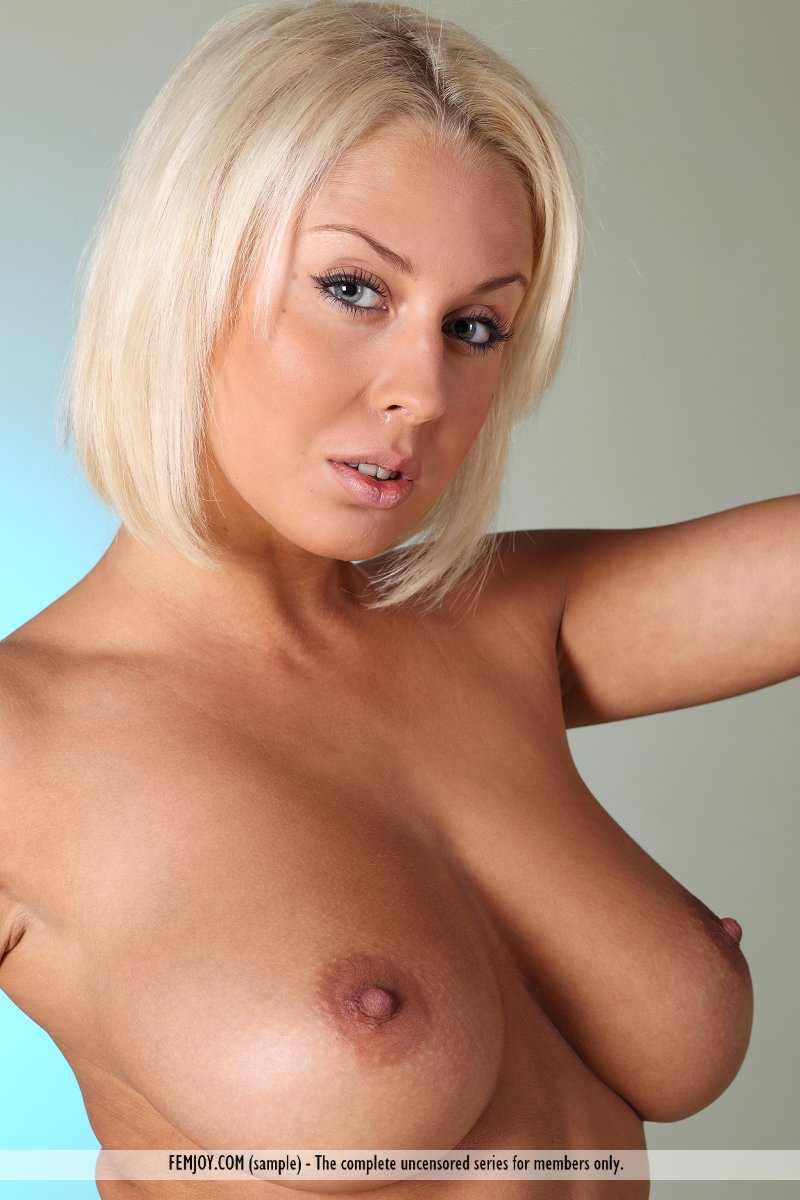 pixvenue.com naked ... Gorgeous busty model Aelita lets her natural big tits loose to swing  naked ...