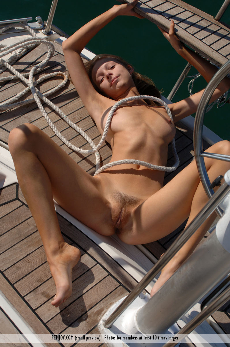 Pretty nude girl sailing excellent