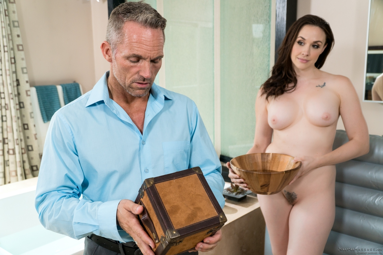 image Chanel preston oils up and gets fucked hard