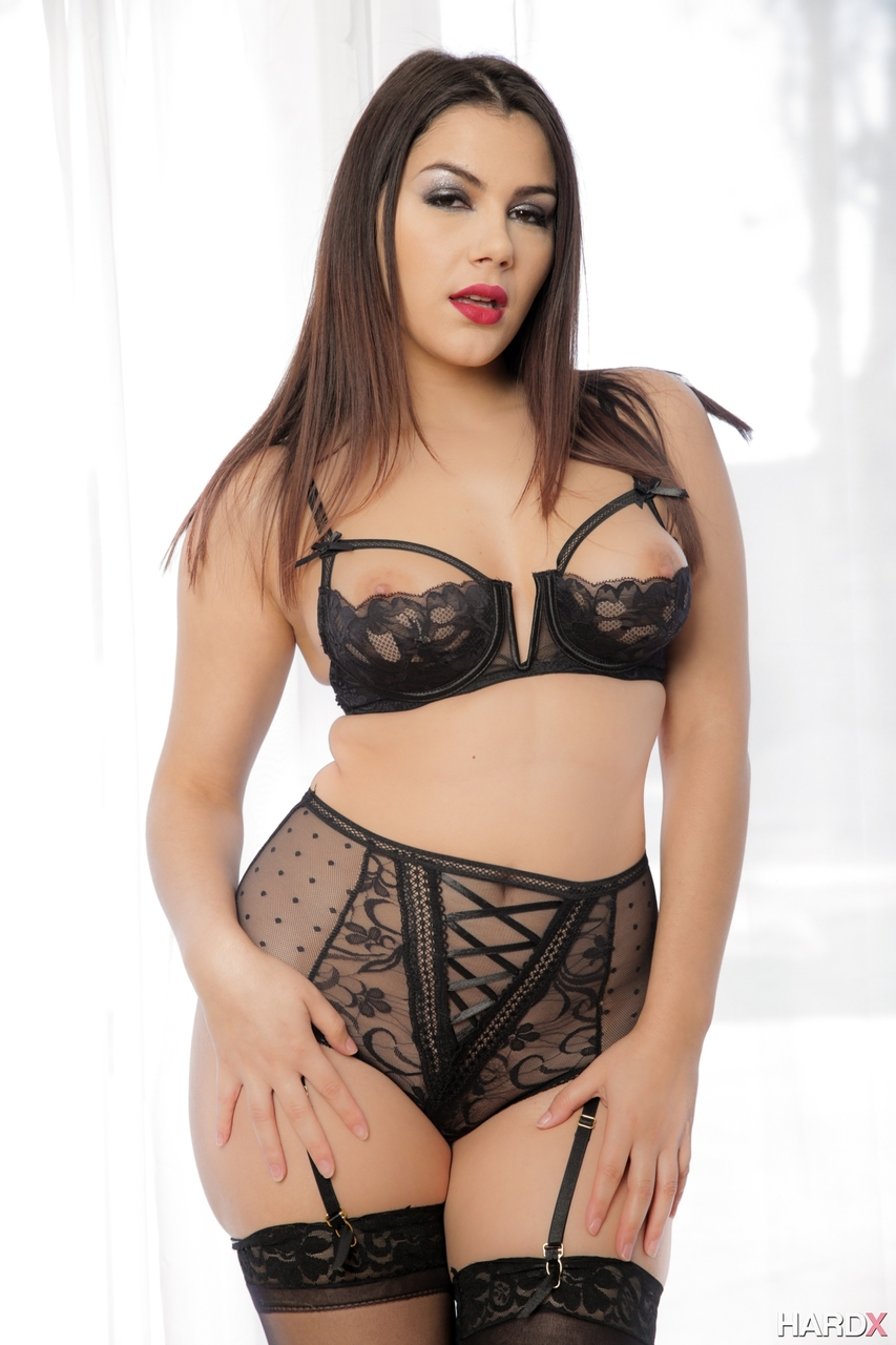 Italian goddess Valentina Nappi exposes her killer curves in hot lingerie