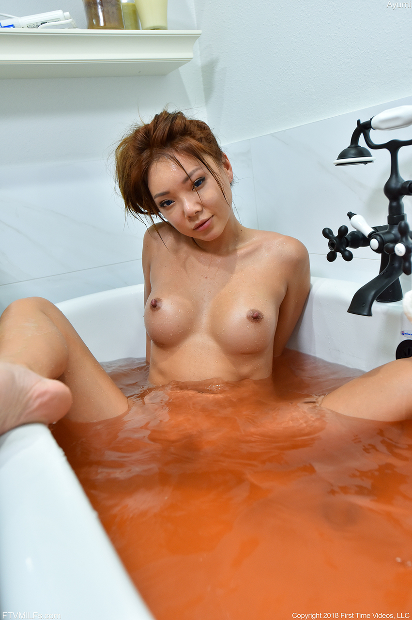 Cute Asian first timer Ayumi strikes various nude and semi-nude poses