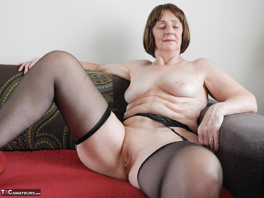 Very pity Mature grannies in sheer lingerie