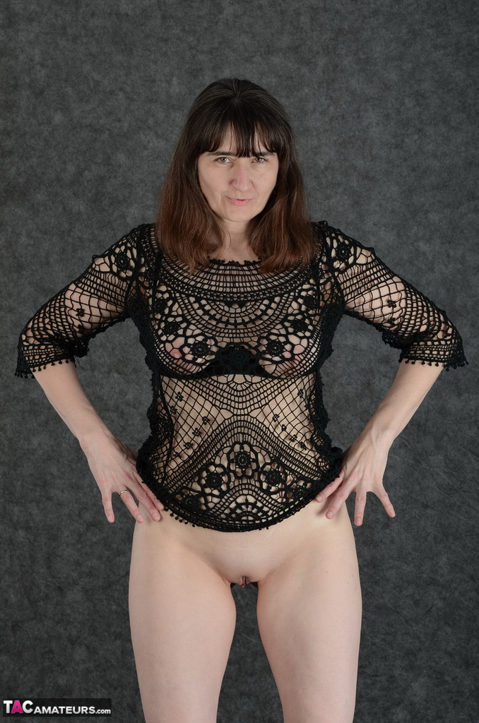 milf gags on cock