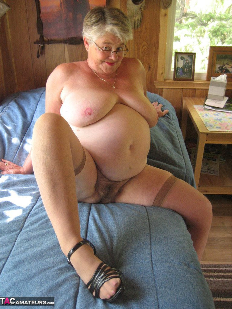 Grannies girdles stockings possible tell