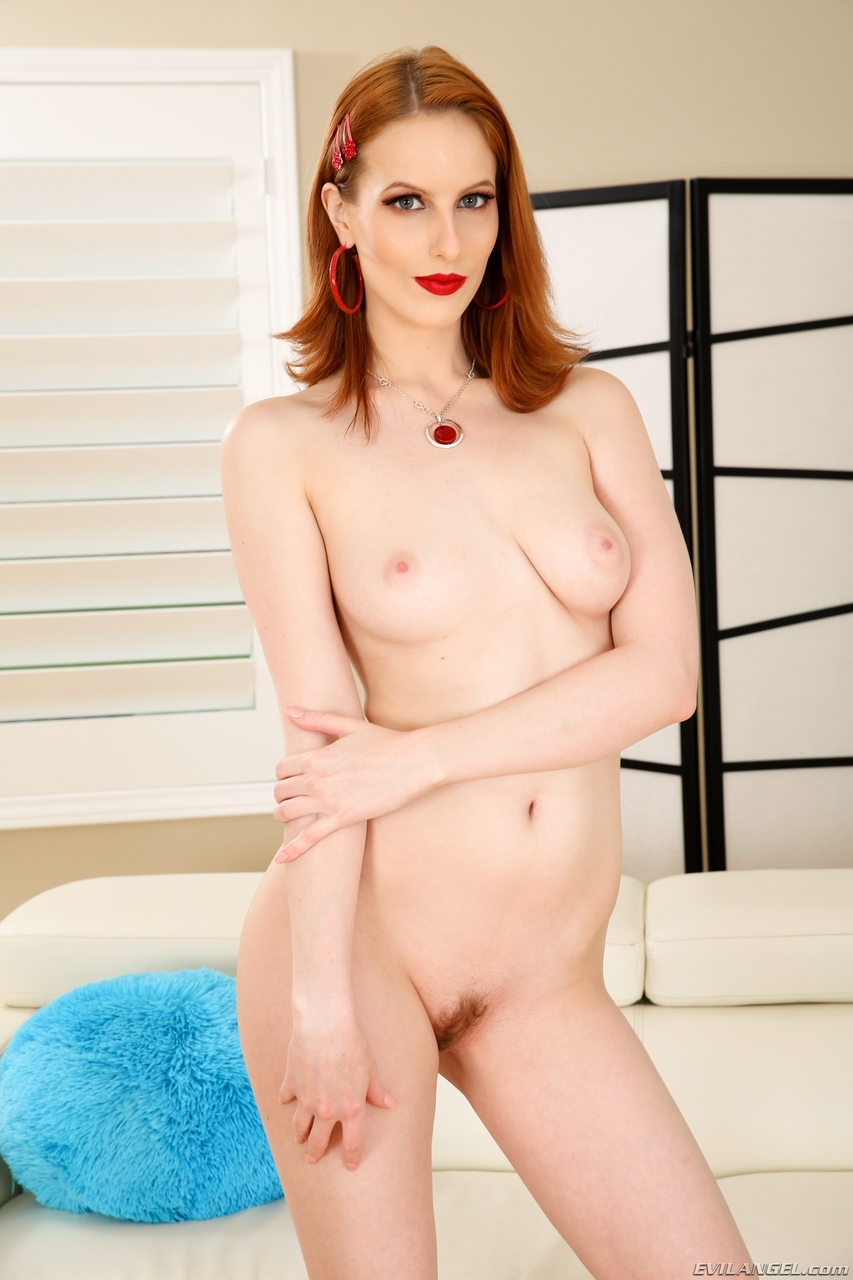 Pale redhead Alex Harper sports an anal gape after being banged by Small Hands