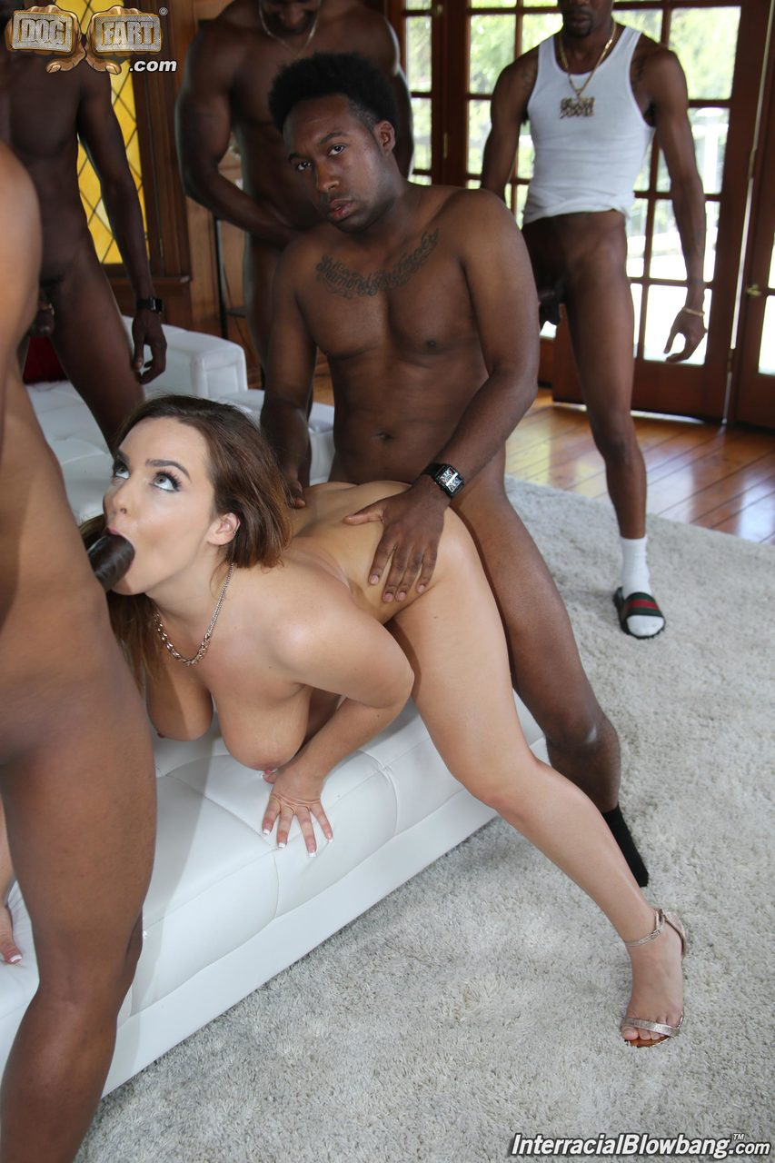 White Slut Gets Black Creampie