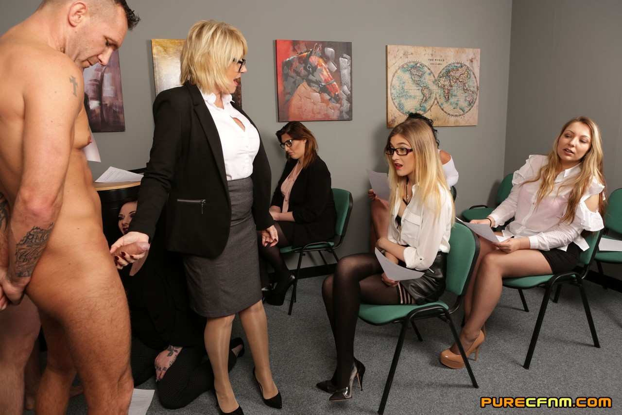 Manage Job interview gangbang could not